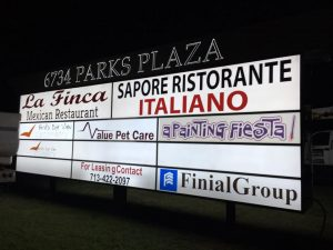 Tenant Signs monument tenant outdoor illuminated backlit sign 300x225